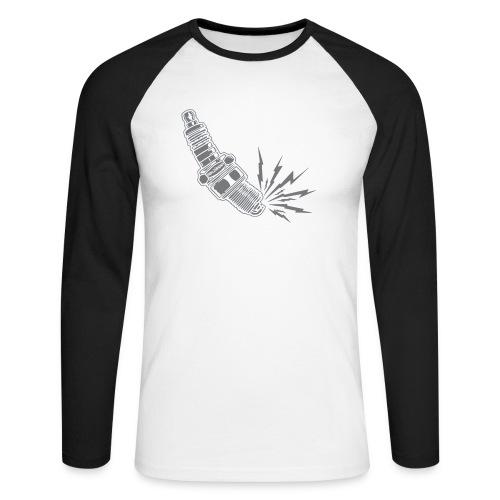Fehlzünder Kontrast-Pullover - Männer Baseballshirt langarm