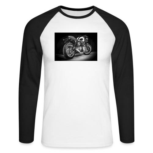 Monia's Thruxton 'Performance Scrambler' - Men's Long Sleeve Baseball T-Shirt