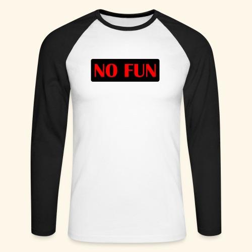 no fun - Langærmet herre-baseballshirt