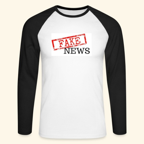 fake news - Men's Long Sleeve Baseball T-Shirt