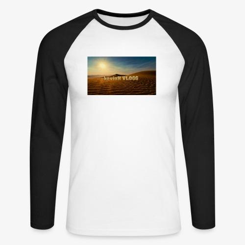 vlogg logo 123 - Langermet baseball-skjorte for menn