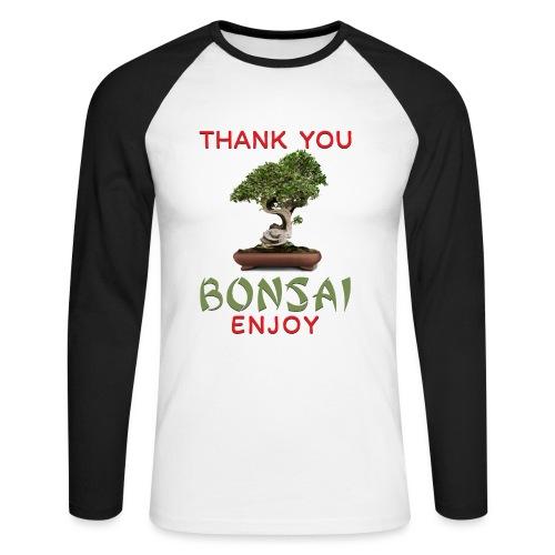 Dziękuję Ci Bonsai - Koszulka męska bejsbolowa z długim rękawem