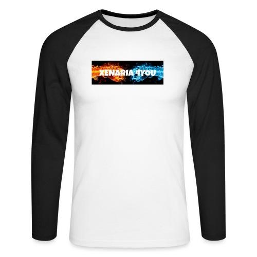 Kolekcja początkowa - Koszulka męska bejsbolowa z długim rękawem