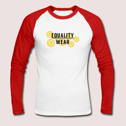 Equality Wear Fresh Lemon Edition - Men's Long Sleeve Baseball T-Shirt