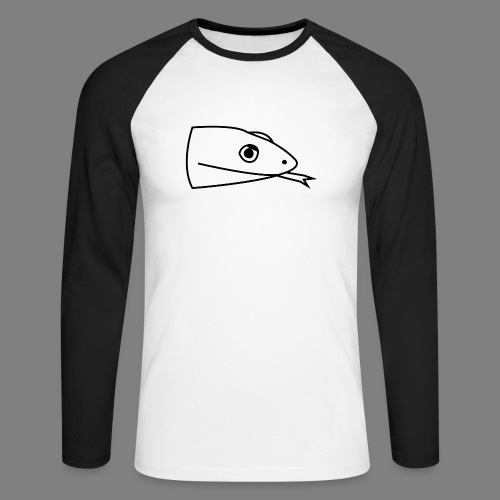 Snake logo black - Mannen baseballshirt lange mouw