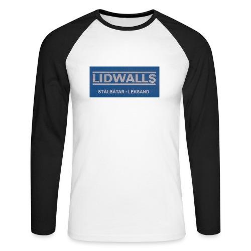 Lidwalls Stålbåtar - Långärmad basebolltröja herr