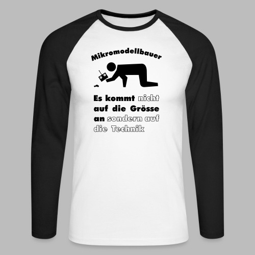 Mikromodellbau Weisheit - Männer Baseballshirt langarm