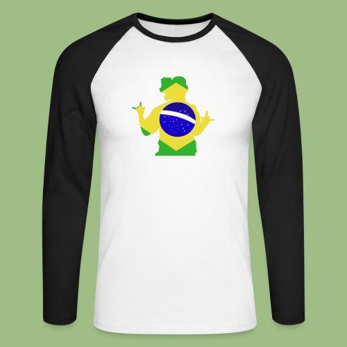 Ronaldinho Brazil - Långärmad basebolltröja herr
