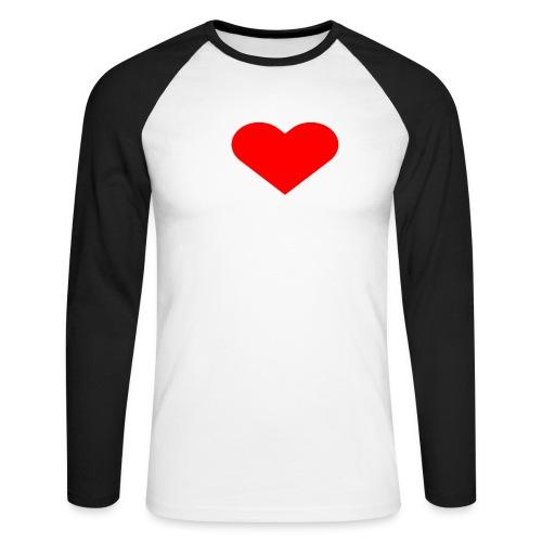 I LOVE FITNESS - Männer Baseballshirt langarm