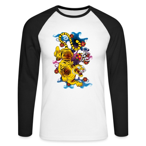 Japanese Tiger - Tattoo design - T-shirt baseball manches longues Homme