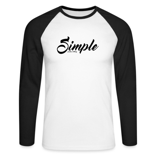 Simple: Clothing Design - Men's Long Sleeve Baseball T-Shirt