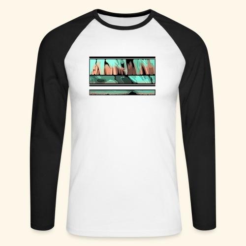 Slur-F06 - Men's Long Sleeve Baseball T-Shirt