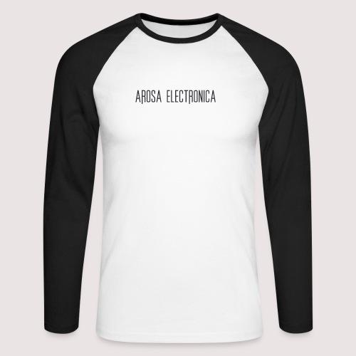Schrift Schwarz - Männer Baseballshirt langarm