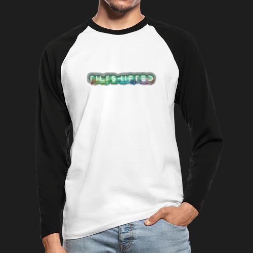 TiltShifted Logo on Black - Miesten pitkähihainen baseballpaita