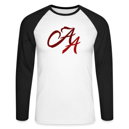 AA-shirt-design - Men's Long Sleeve Baseball T-Shirt