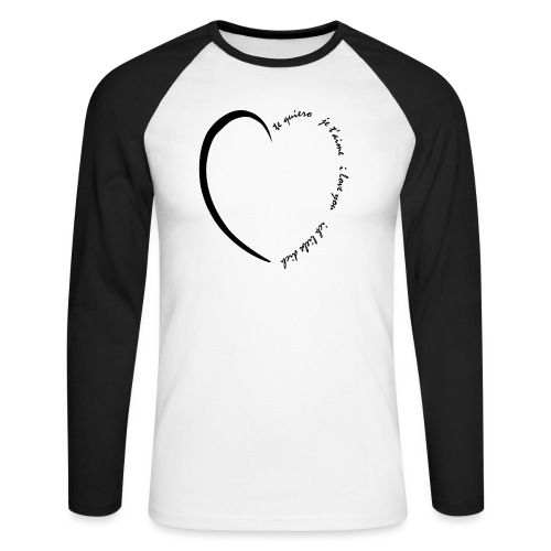 Multi Love - T-shirt baseball manches longues Homme