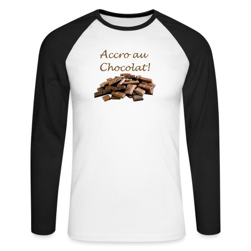 Chocolat - T-shirt baseball manches longues Homme