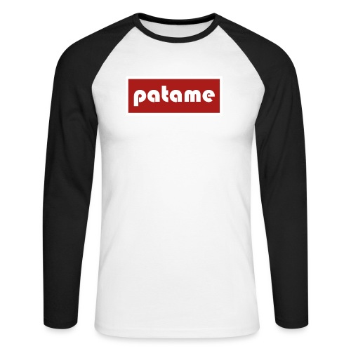 patame Logo - Männer Baseballshirt langarm