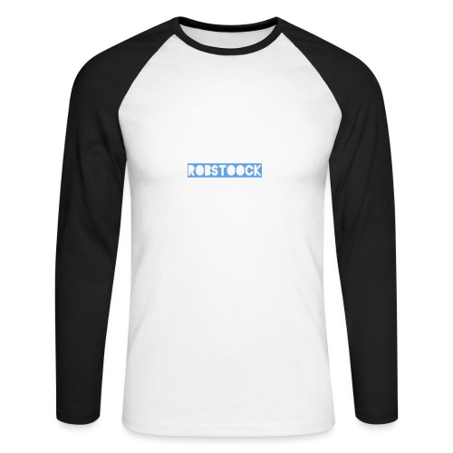 Robstoock Schriftzug II - Männer Baseballshirt langarm