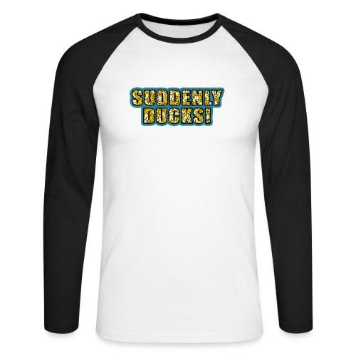 Duck Filled Text - Men's Long Sleeve Baseball T-Shirt