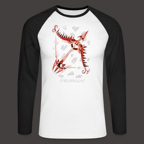 Sagittaire Négutif - T-shirt baseball manches longues Homme
