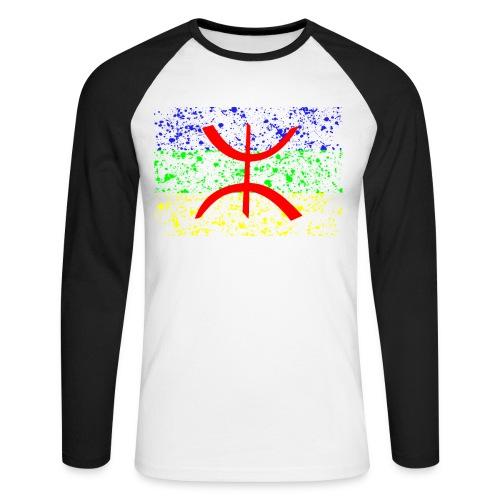 Drapeau Amazigh Art Signe Tifinagh Berbère - T-shirt baseball manches longues Homme