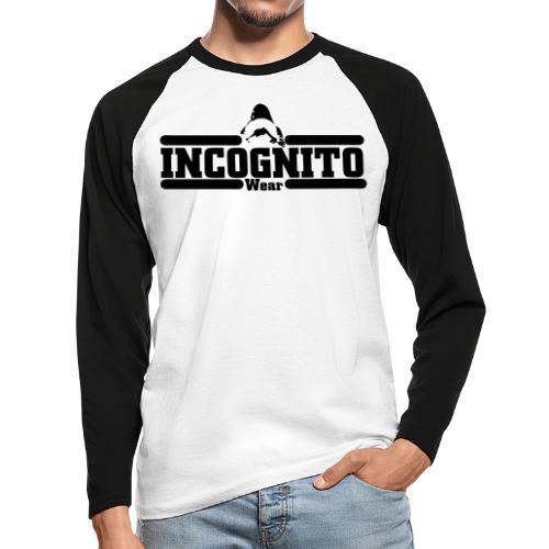 INC WEAR© - Koszulka męska bejsbolowa z długim rękawem