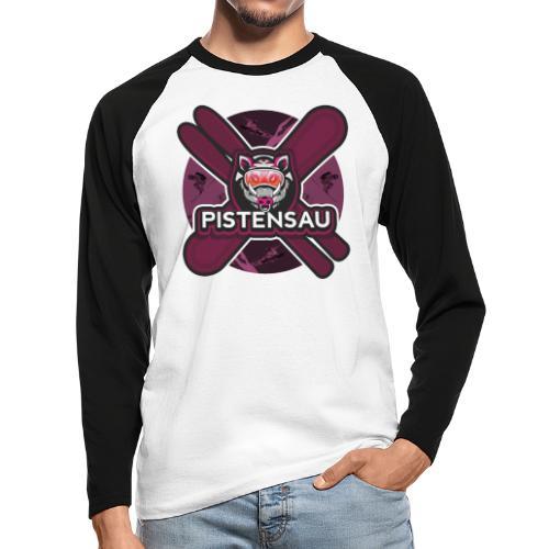 PistenSau Lachshimmel - Männer Baseballshirt langarm
