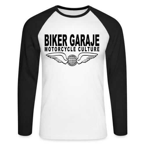 Biker Garaje Cultura - Raglán manga larga hombre
