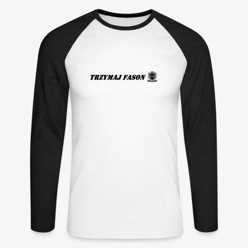 logo napis2 - Koszulka męska bejsbolowa z długim rękawem