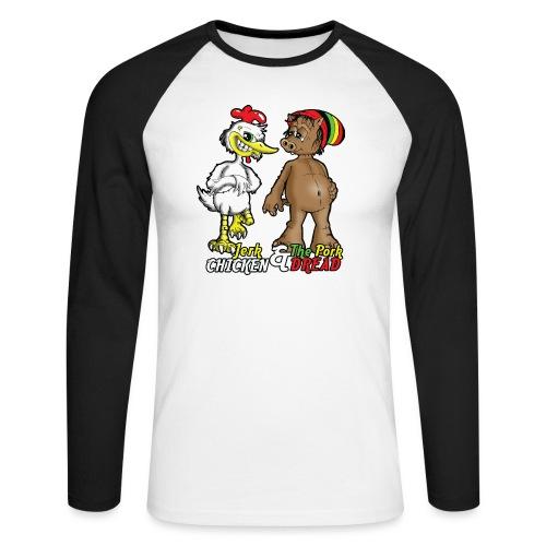 Jerk chickenPork Dread - Men's Long Sleeve Baseball T-Shirt