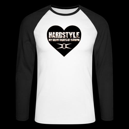Hardstyle = My Style - My Heart Beats At 150BPM - Mannen baseballshirt lange mouw