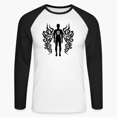 Houseology Original - Angel of Music (INVERSE) - Men's Long Sleeve Baseball T-Shirt