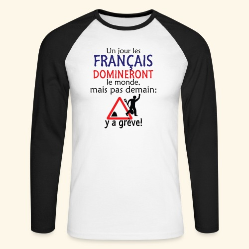 domination française - T-shirt baseball manches longues Homme