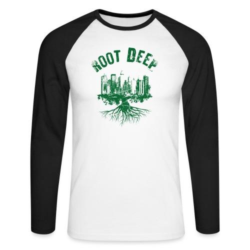 Root deep Urban grün - Männer Baseballshirt langarm