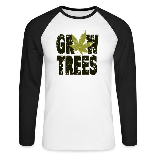 Grow Weed Trees Cannabis - Vintage - Männer Baseballshirt langarm
