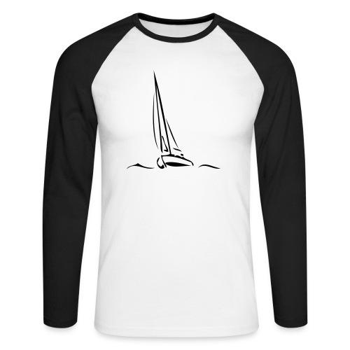Segelboot - Männer Baseballshirt langarm