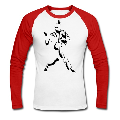 kung fu ink - Men's Long Sleeve Baseball T-Shirt