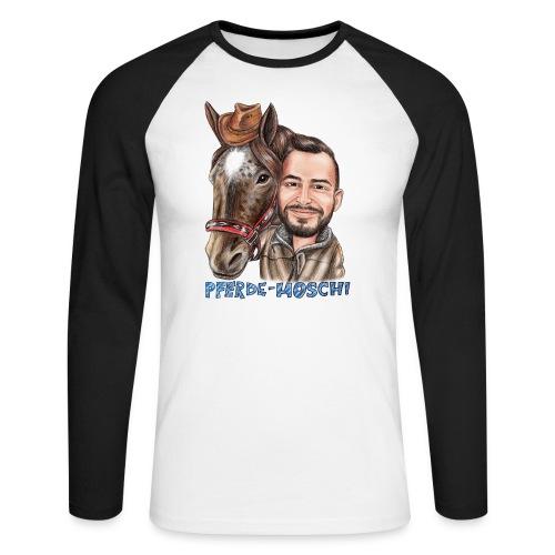 Pferde-Hoschi Kollektion hinten - Männer Baseballshirt langarm