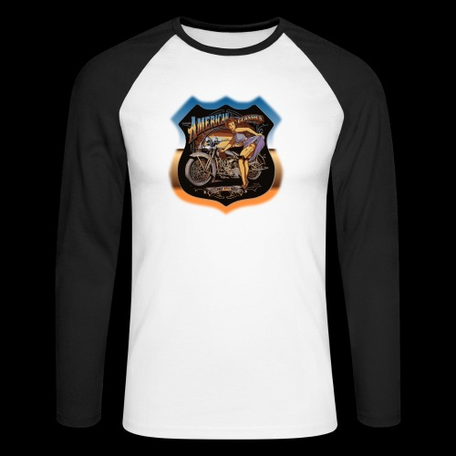 AMERICAN CLASSIC - Männer Baseballshirt langarm