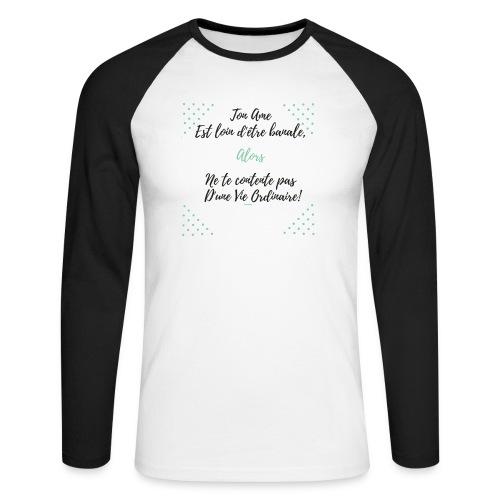 Pas banale!! - T-shirt baseball manches longues Homme