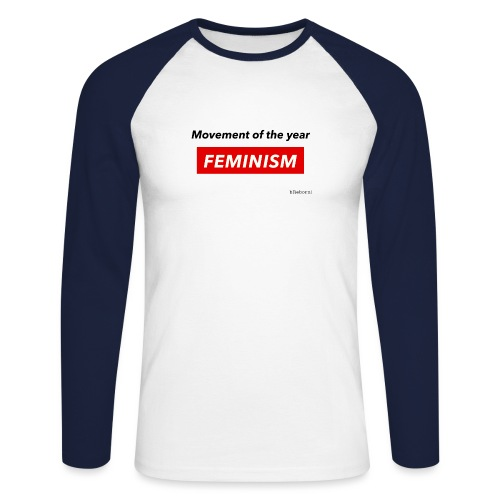 Feminism - Men's Long Sleeve Baseball T-Shirt