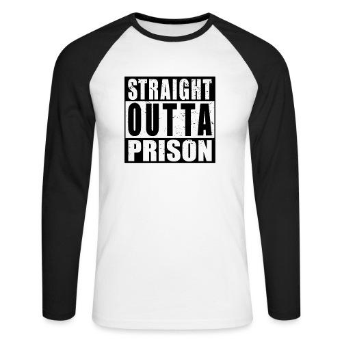 Straight outta Prison Frisch aus d. Gefängnis - Männer Baseballshirt langarm