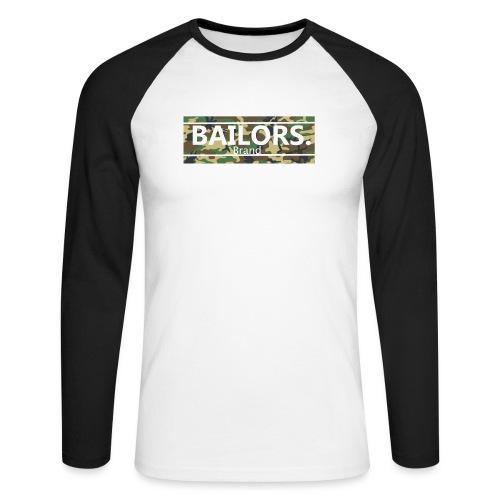 Bailors. camo pattern - Mannen baseballshirt lange mouw
