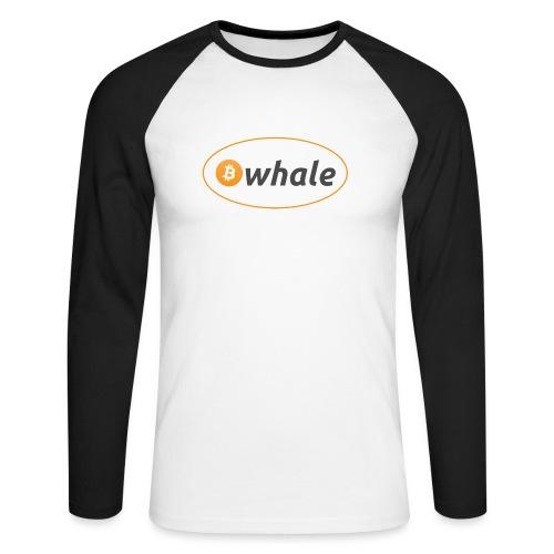 Bitcoin Whale - Men's Long Sleeve Baseball T-Shirt
