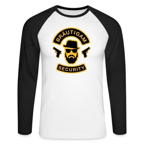 Bräutigam Security - JGA T-Shirt - Bräutigam Shirt - Männer Baseballshirt langarm