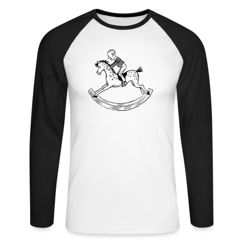 konik na biegunach - Koszulka męska bejsbolowa z długim rękawem
