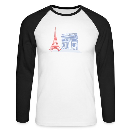 Paris - T-shirt baseball manches longues Homme