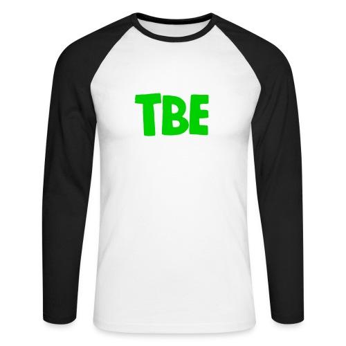 Logo groen - Mannen baseballshirt lange mouw
