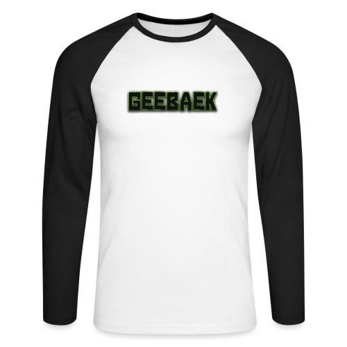 Geebaek - Langærmet herre-baseballshirt